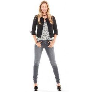 CAbi Graphite Grey ZIP Skinny Jeans